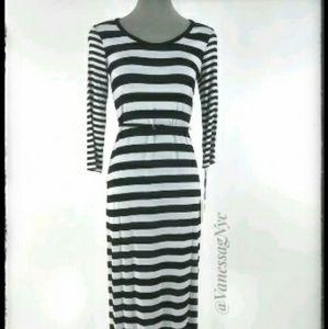 Calvin Klein Stripped Maxi Dress Sz 2